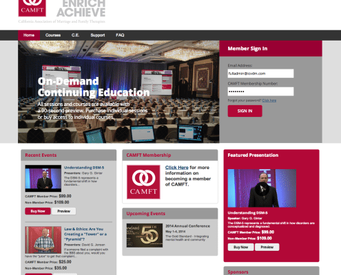 Live webcasting for Associations