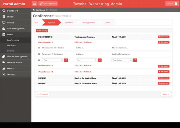 Townhall webcast-portal-home
